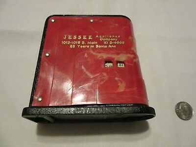 Jessee Appliance Company, Santa Ana, Ca. Children's Bank. Metal, Made In Chicago