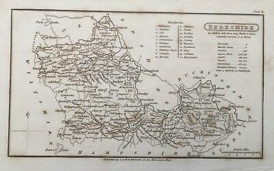 1824 Antique map - Berkshire - from Capper's Topographical Dictionary