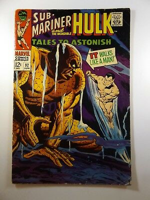"""Tales to Astonish #92 """"It Walks Like a Man!"""" Incredible Hulk and Subby!!  VG!!"""