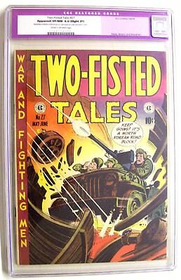 Two-Fisted Tales #27 Cgc 9.0 Very Fine/near Mint Ec Comic - Kurtzman 1952!