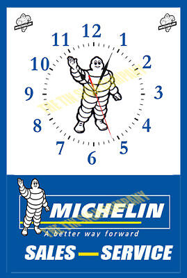 Michelin Man Clock.great For Garage, Workshop, Etc. Personalise Your Business