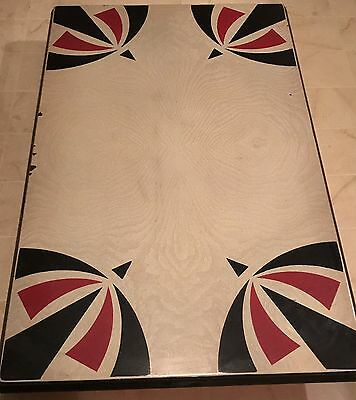Vintage Enamel Metal Table Top/with Chairs-See Details/No Shipping-pick Up Only