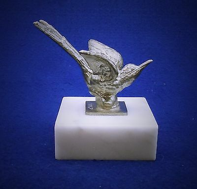 Pewter Hummingbird Paperweight / Figurine - Marble Base by Tennessee Pewter