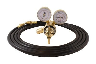 Industrial Argon Regulator/Flowmeter Gauges for MIG & TIG Welders + 5 Feet Hose