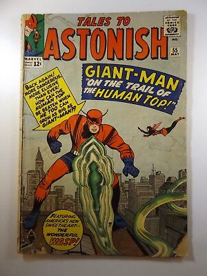 "Tales to Astonish #55 Giant-Man on The Trail of The Human Top!"" Good+ Condition!"