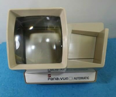 PROYECTOR FOTOGRAFIA PANA-VUE AUTOMATIC LIGHTED 2x2 SLIDEVIEWER BEIGE UNTESTED
