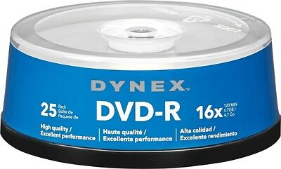 Dynex- 25-Pack 16x DVD-R Disc Spindle - Blue/Gray