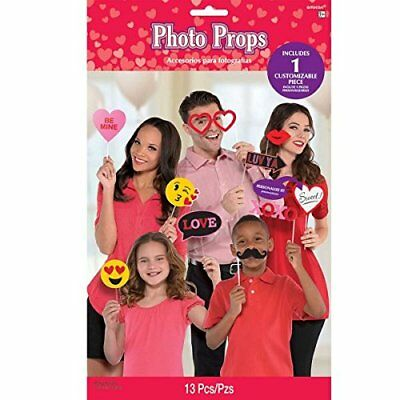 Amscan International 397799 45 x 30 cm Valentine Photo Props
