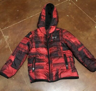 Boys Under Armour Reversible Puffer Jacket Size 4