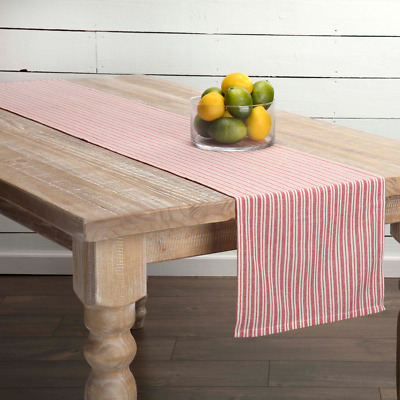 Fabulous New Shabby Cottage Chic Vintage Retro Red Ticking Striped Table Runner 72 Download Free Architecture Designs Remcamadebymaigaardcom