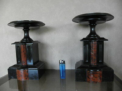 Bowls Stands Urns marbre century mounted marble red mantel for clock antique old
