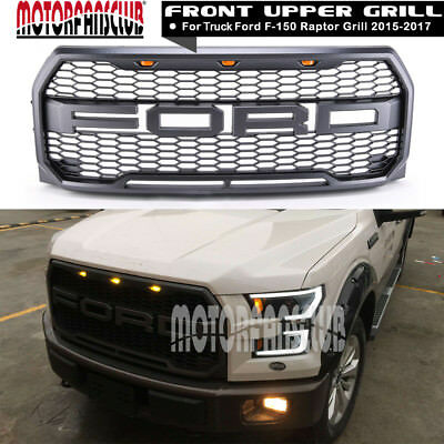 Front Grill Grille For 15-17 Ford F-150 F150 Raptor 2015 2016 2017 w/ FR Letter