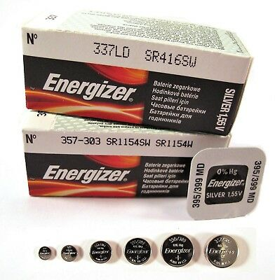 Energizer Watch Batteries 1.5 V Silver Oxide Battery  ( Any Sizes ) x 1 2 5 10