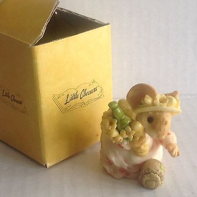 "Little Cheesers ""Mama picking can"" 1991 Figurine by Ganz New In Box #05116"