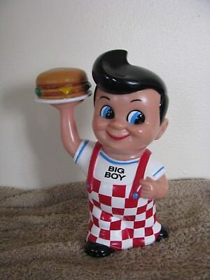1999 Elias Brothers Big Boy Plastic Figurine Toy Coin Piggy Bank #A032