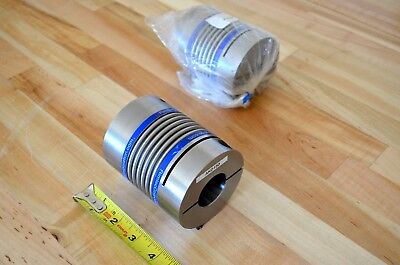 "New Gerwah AKD150 Zero-Backlash Bellows Motor Coupling 35mm x 3/4"" Bore -CNC DIY"