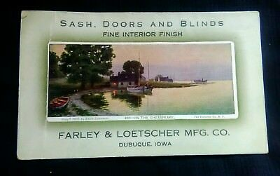 Advertising Ink Blotter Farley & Loetscher Mfg Co Dubuque Iowa FREE Shipping