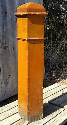 Original Antique Wooden Staircase Newel Post Architectural Salvage