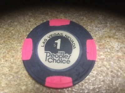 """(Vintage/1980) $1 """"the Peoples Choice"""" Casino Chip - 1St Edition - Vegas"""