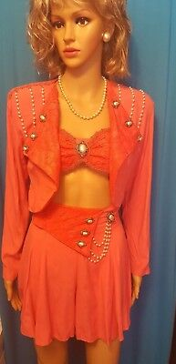 Fire Vintage 1980's 3 Pc Outfit (Size S) PLUS FREE JEWELRY
