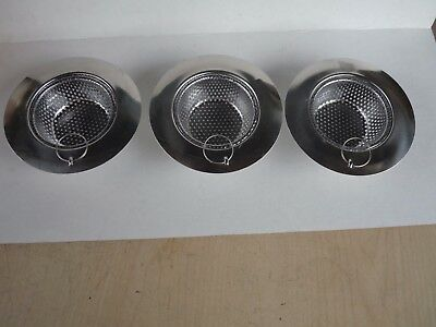 3 Stainless Steel Sink Strainer Trap Sieve Catch Keep Drain from Clogging