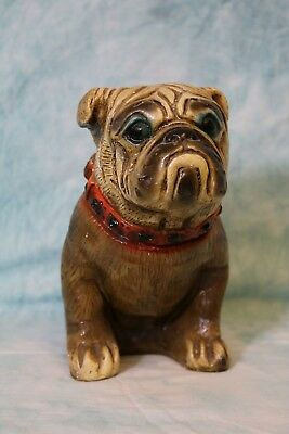 8 inch Tall Bulldog bank & from front to back 9 inches wide