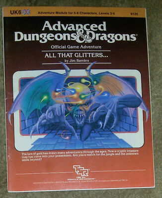 UK6 All that Glitters.. AD&D TSR 9126 / Advanced Dungeons & Dragon / Jim Bambra