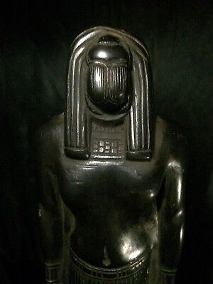 RARE ANCIENT EGYPTIAN STATUE Scarab ANTIQUE Pharaonic EGYPT Carved STONE BC