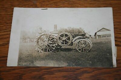 1916 International Harvester Mogul Tractor Real Photo Postcard