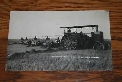 1910s Aultman Taylor Tractor Real Photo Postcard