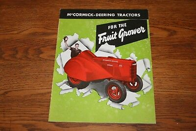1945 Rare International Harvester Orchard and Grove Tractors Advertising Sales B