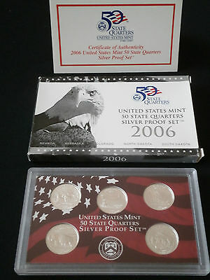 US State Quarter Silver proof Set  2006 - Komplett PP - 900er Silber