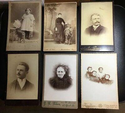 Antique Old Photographs - Lot Of 6