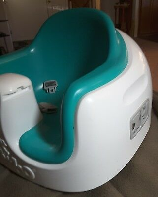 Bumbo Seat Play TRAY 3 In 1 Seat Chair Floor Safety  Baby Comfortable Aqua EUC