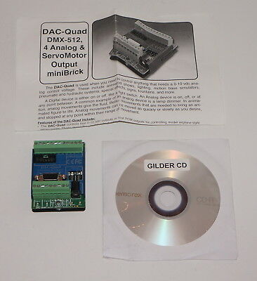 Gilderfluke Dac-Quad Dmx-512 4 Analog & Servo Motor Output Mini Brick New