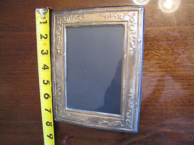 Sterling Silver picture frame embossed 5x7 british hallmarks