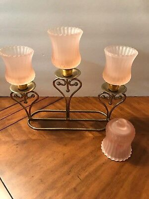 Home Interior Homco Pink Ribbed Frosted Votive Cup