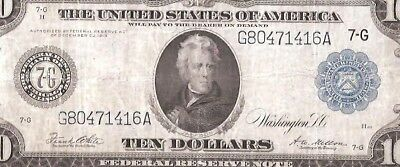 Rare Type-B Chicago 1914 $5 Large Federal Reserve Note