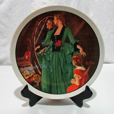 Norman Rockwell Mothers Day 1984 Plate GRANDMA'S COURTING DRESS 3744G EUC
