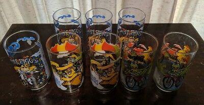 Vintage The Great Muppet Caper McDonald's Drinking Glasses Lot of 8