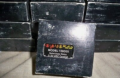 Lot of 13: NEW OPTO 22  120D25   SOLID STATE RELAY 120 VAC 25 AMP 3-32 VDC