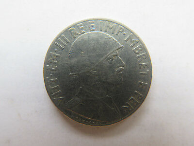 WORLD WAR II 1939 ALBANIAN STEEL 20 LEK in EXCELLENT COLLECTABLE CONDITION