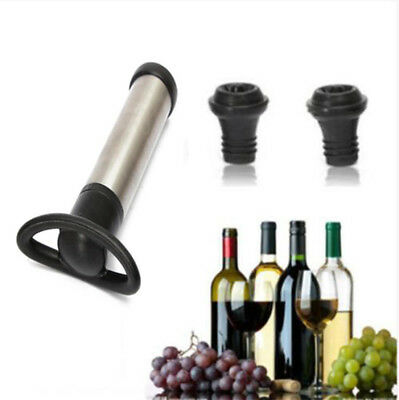 NEW Reusable Bottle Vacuum Wine Preserver Saver Sealer Pump With 2 Stoppers EA