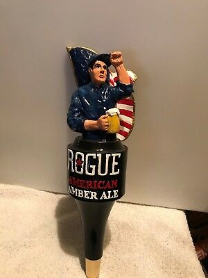 ROGUE AMERICAN AMBER ALE beer tap handle. Oregon