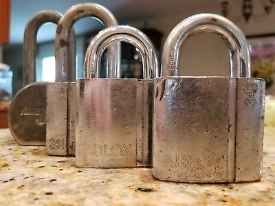 Three Abloy And One American  High Security Locks (No Keys)