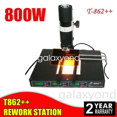 T862++ Welder BGA Infrared Rework Station IRDA SMD Soldering Welding Machine New