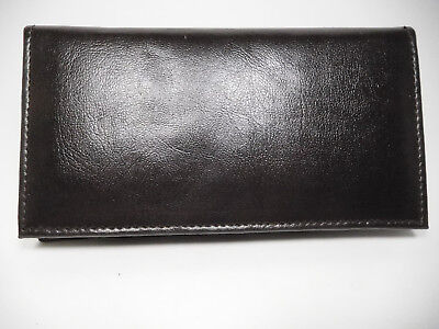 Marshal PU Man-Made Brown Leather Budget Checkbook Cover-1 Card, Insert-BR156PU