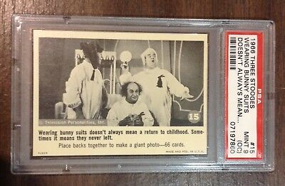 1966 Fleer Three Stooges card #15 Wearing bunny suits... PSA 9 oc