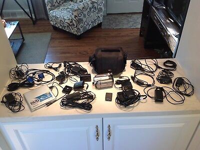 Treasure Chest Panasonic Camcorder & DVD Burner bulk lot chargers cords etc