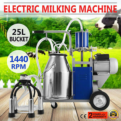 25L Melkmaschine Melken Kühe 12Cows/hour Barrel Bucket Kühe-Wanne Electrical